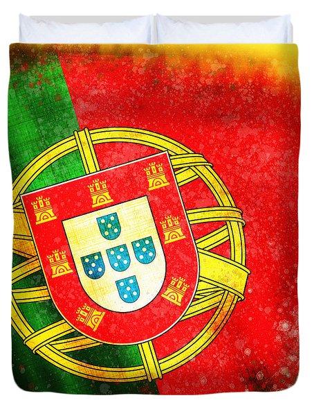 Portugal Flag  Duvet Cover by Setsiri Silapasuwanchai