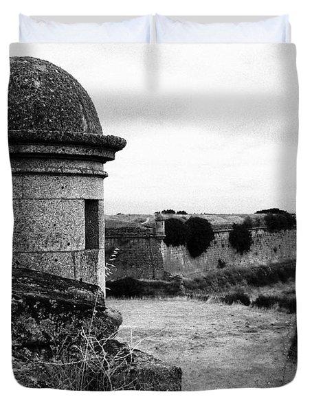 Portuguese Fortress Duvet Cover by Gaspar Avila