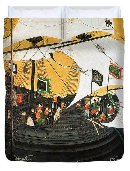 Portuguese Galleon Duvet Cover