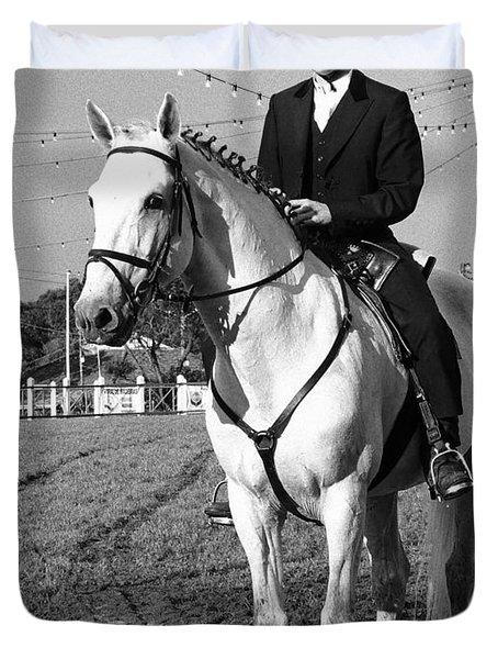 Portuguese Horse Rider Duvet Cover by Gaspar Avila