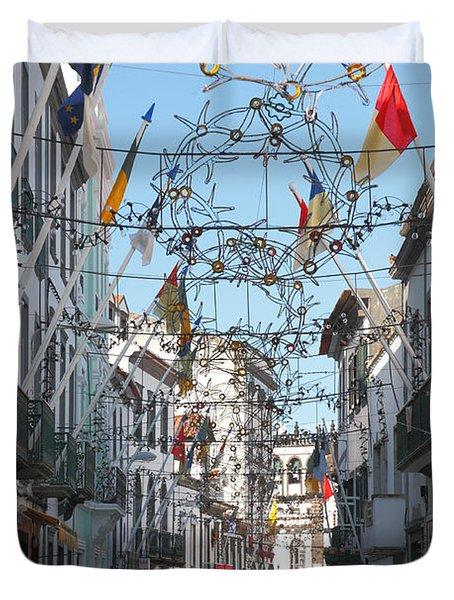 Portuguese Street Duvet Cover by Gaspar Avila