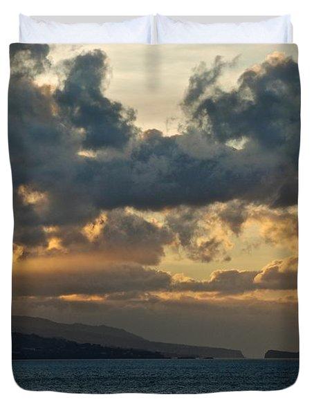 Portuguese Sunrise Duvet Cover by Eric Tressler