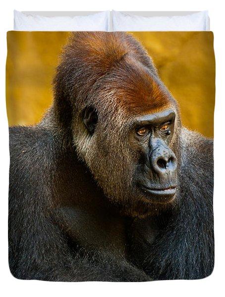 Posing Gorilla Duvet Cover