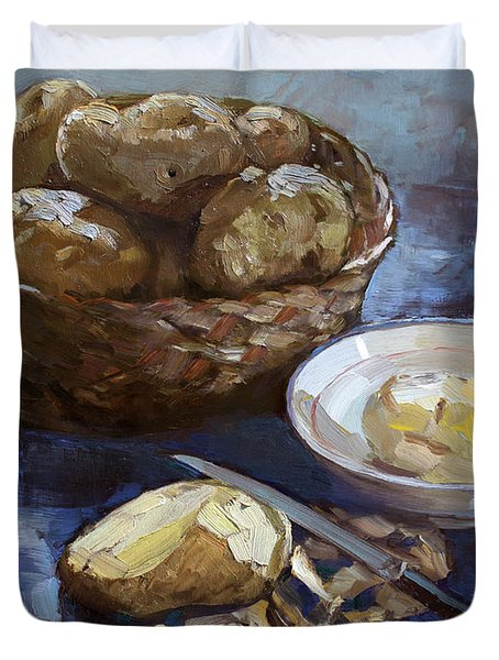 Potatoes Duvet Cover by Ylli Haruni