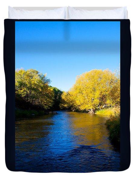 Poudre River Duvet Cover by Dana Kern