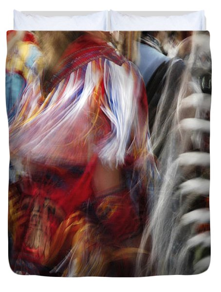 Duvet Cover featuring the photograph Pow Wow Dancer by Vivian Christopher