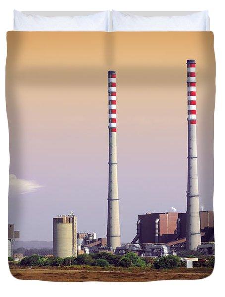 Power Plant Duvet Cover by Carlos Caetano
