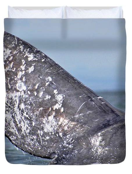 Duvet Cover featuring the photograph Powerful Fluke by Don Schwartz