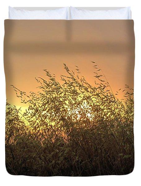 Prairie Dusk Duvet Cover by Leanna Lomanski