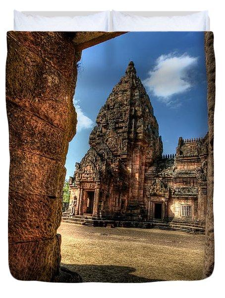 Prasat Phnom Rung Duvet Cover by Adrian Evans