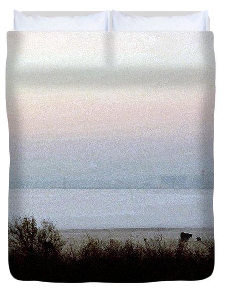 Pre-dawn Fog Duvet Cover