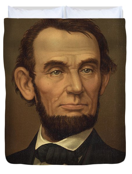 Duvet Cover featuring the photograph President Of The United States Of America - Abraham Lincoln  by International  Images