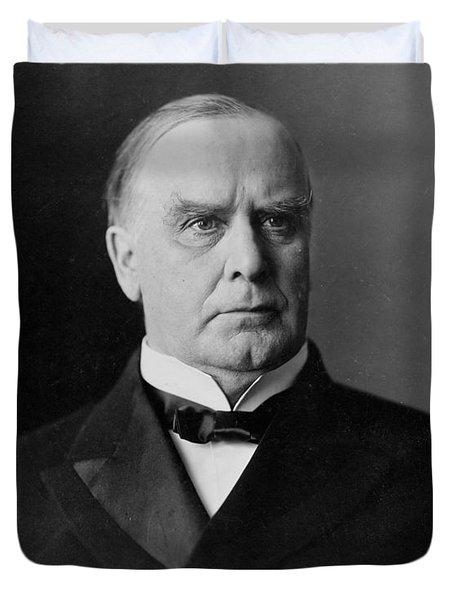 President William Mckinley Duvet Cover by International  Images