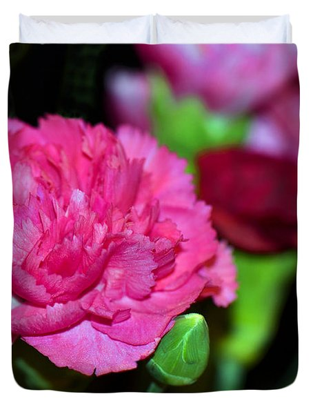 Pretty In Pink Duvet Cover by Sandi OReilly