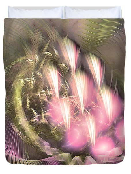 Pretty Lady Of Flowerbed - Abstract Art  Duvet Cover