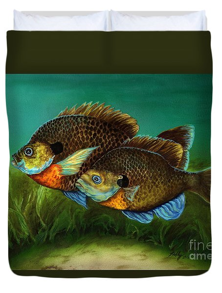 Pretty Little Panfish Duvet Cover