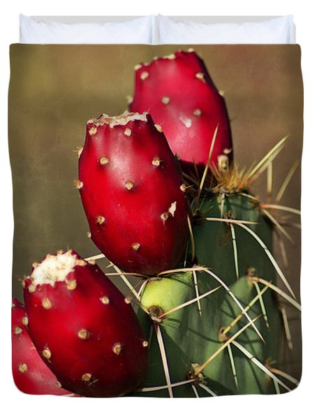 Prickley Pear Fruit Duvet Cover