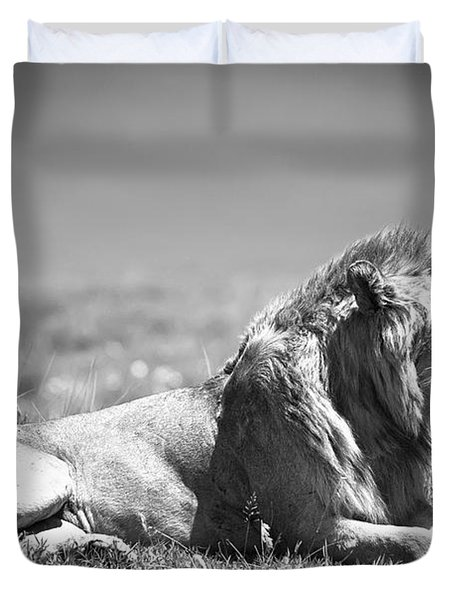 Pride In Black And White Duvet Cover by Sebastian Musial