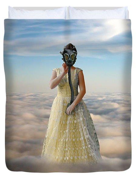 Princess In Gas Mask 3 Duvet Cover by Jill Battaglia