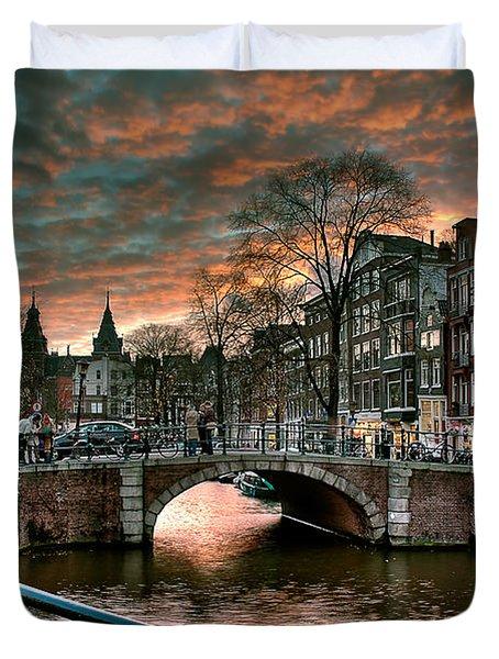 Prinsengracht And Reguliersgracht. Amsterdam Duvet Cover