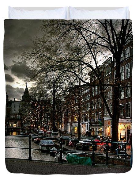 Prinsengracht And Spiegelgracht. Amsterdam Duvet Cover