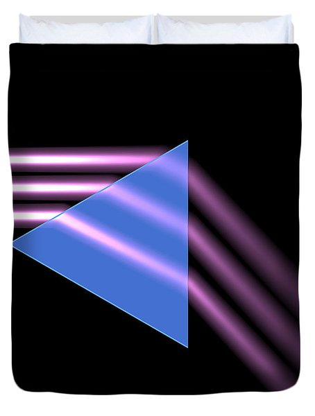 Duvet Cover featuring the digital art Prism 1 by Russell Kightley