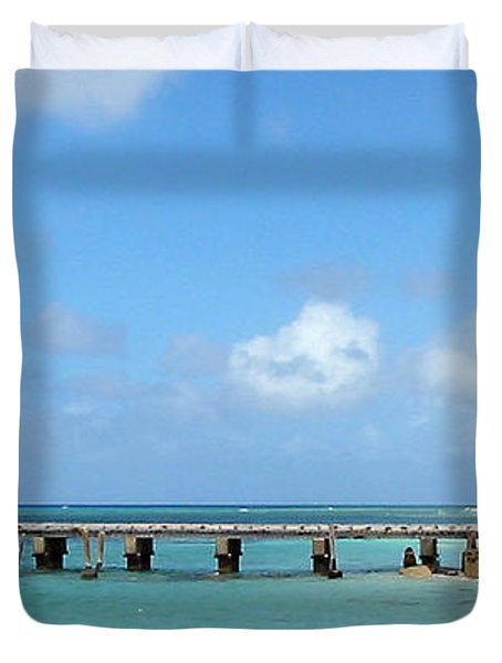Private Dock Duvet Cover