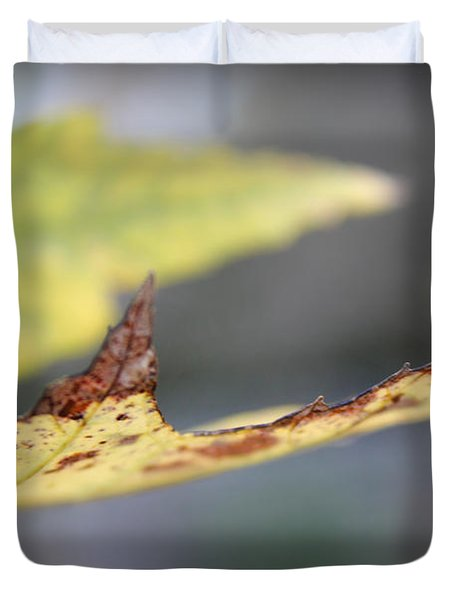 Profile Of A Leaf Duvet Cover