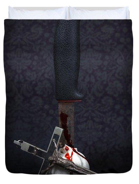 Protection Against Vampires Duvet Cover by Joana Kruse