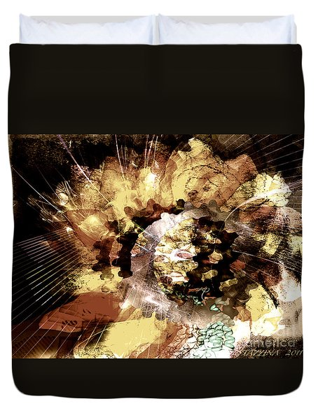 Duvet Cover featuring the digital art Protein Art by Danica Radman