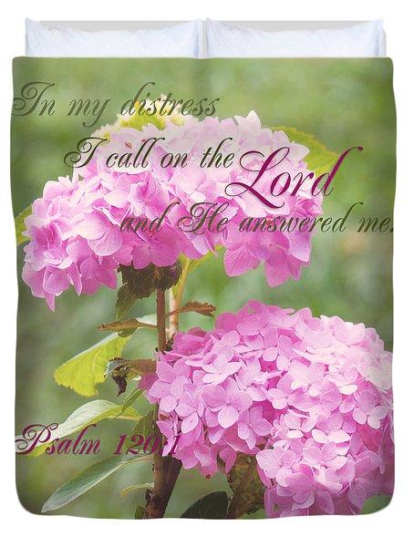 Psalm Verse Duvet Cover