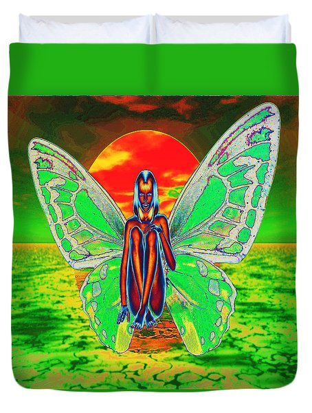 Psychedelic Butterfly Duvet Cover by Matthew Lacey