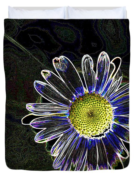 Psychedelic Daisy Duvet Cover