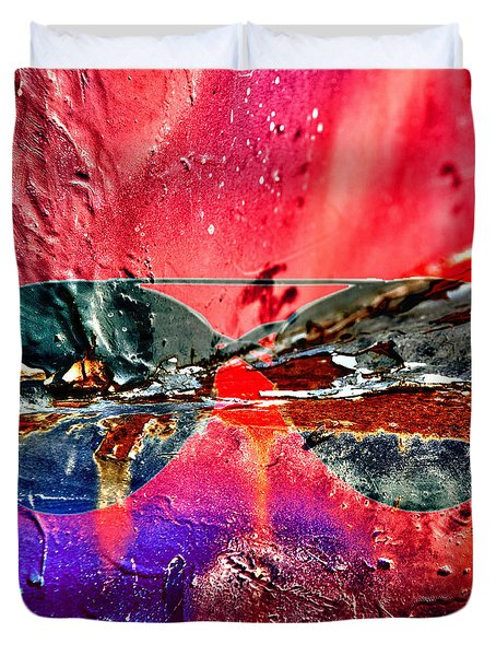 Psychedelic Spectacle  Duvet Cover by Jerry Cordeiro
