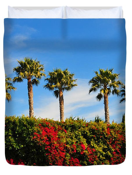 Pt. Dume Palms Duvet Cover