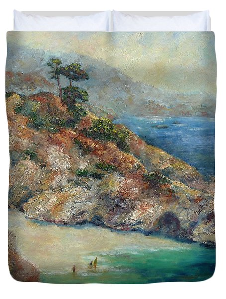 Pt Lobos View Duvet Cover