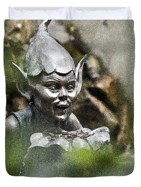 Puck In The Garden Duvet Cover by Heiko Koehrer-Wagner