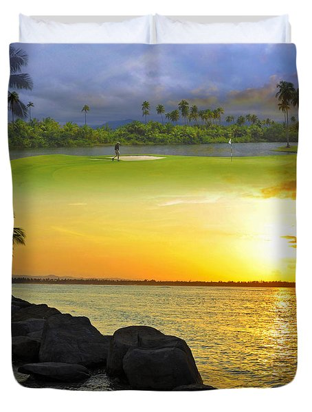 Puerto Rico Montage 3 Duvet Cover by Stephen Anderson