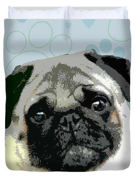 Pug Duvet Cover by One Rude Dawg Orcutt