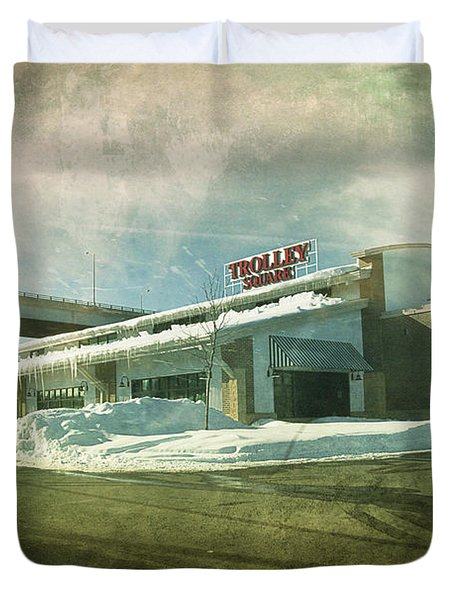 Pullman's Restaurant Duvet Cover by Joel Witmeyer