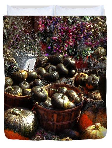 Pumpkin Impressions Duvet Cover