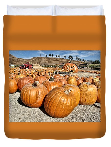 Pumpkin Patch 3 Duvet Cover