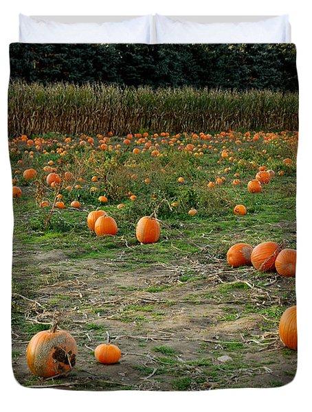Pumpkin Patch Duvet Cover by LeeAnn McLaneGoetz McLaneGoetzStudioLLCcom