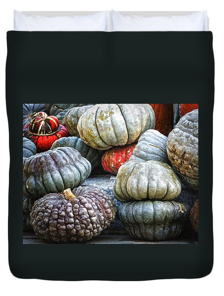 Pumpkin Pile II Duvet Cover by Joan Carroll