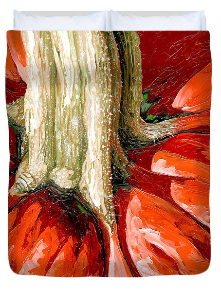 Pumpkin Stem Duvet Cover