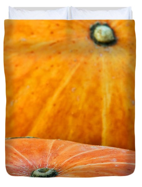Pumpkins Background Duvet Cover by Carlos Caetano