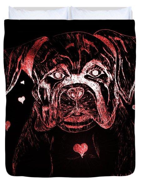 Puppy Love Duvet Cover by Maria Urso