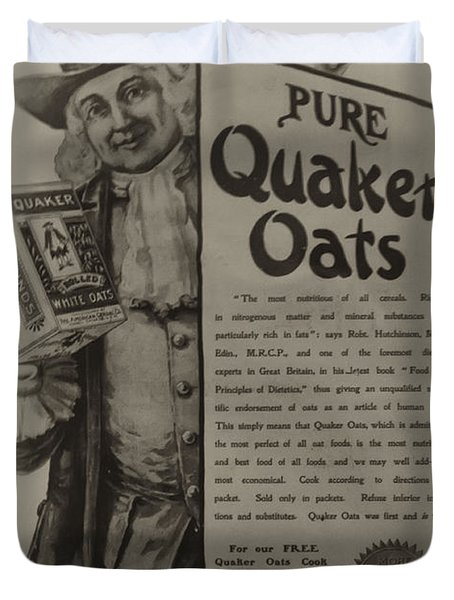 Pure Quaker Oates Duvet Cover by Bill Cannon
