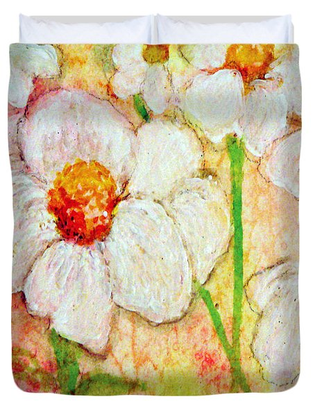 Purity Of White Flowers Duvet Cover by Ashleigh Dyan Bayer