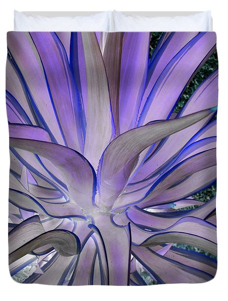 Purple Aloe Duvet Cover